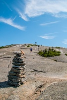 Robin descending the West Ridge Trail of Cardigan Mountain in New Hampshire yesterday morning.