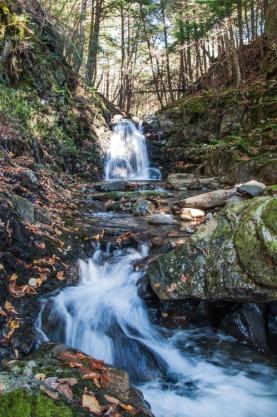 The falls up Fargo Brook