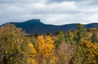 A bit of rime on Camel's Hump and some straggling fall color along East Street.