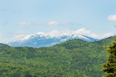Snow on Mt. Mansfield yesterday afternoon as viewed from Pond Road in Richmond.