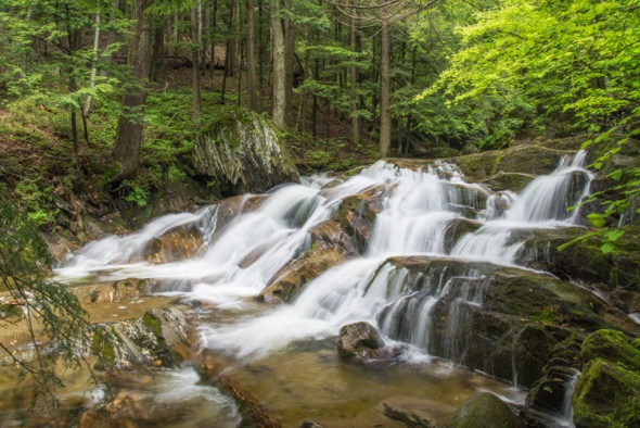 Cascading water on Cobb Brook.
