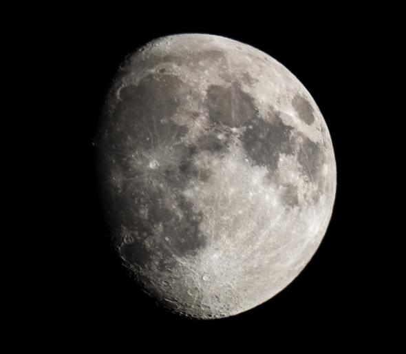 Last night's waxing gibbous moon.