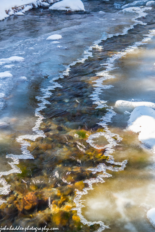 Fringe ice on Fargo Brook