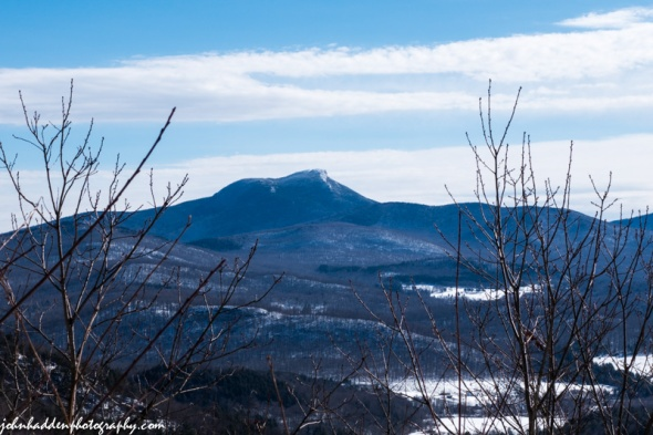 Camel's Hump from the Butternut cabin porch as Sleepy Hollow yesterday morning.