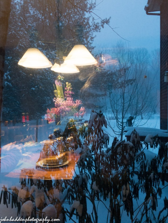The view out our dining room window during the storm