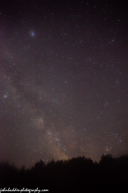 The Milky Way above our front field last night