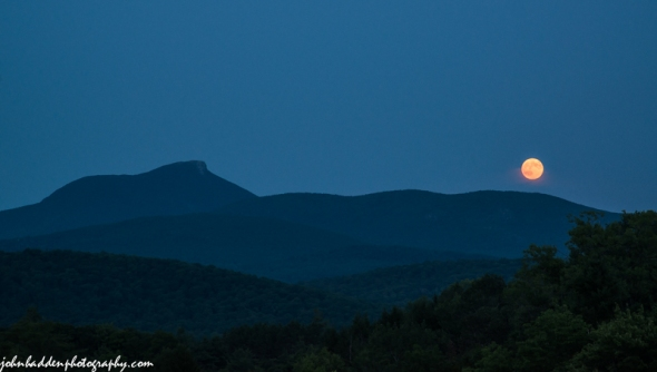 "Last night's ""supermoon"" rising over Camel's Hump"