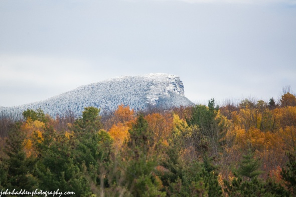 The summit of Camel's Hump sported a light dusting of new snow yesterday!