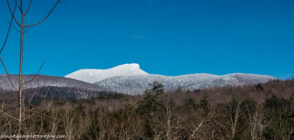 A lightly frosted Camel's Hump yesterday afternoon