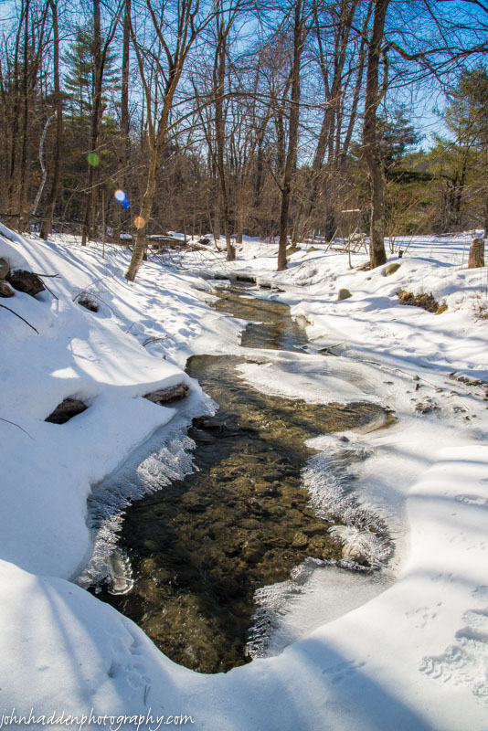 Fargo Brook waits for melt out...