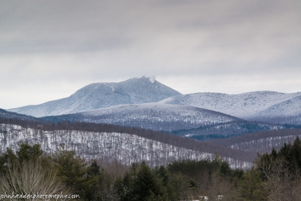 A frosted Camel's Hump seems to await spring