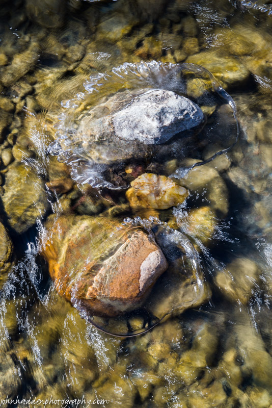 Two ice-wrapped stones in Fargo Brook