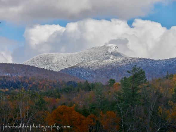 Camel's Hump with a mantle of fresh snow.