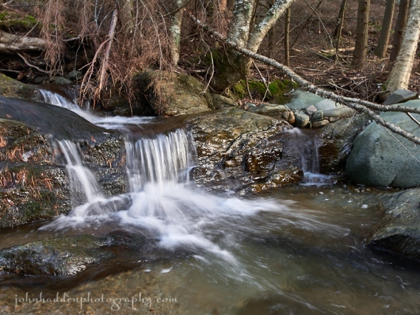 A small waterfall on Fargo Brook just downstream of our place
